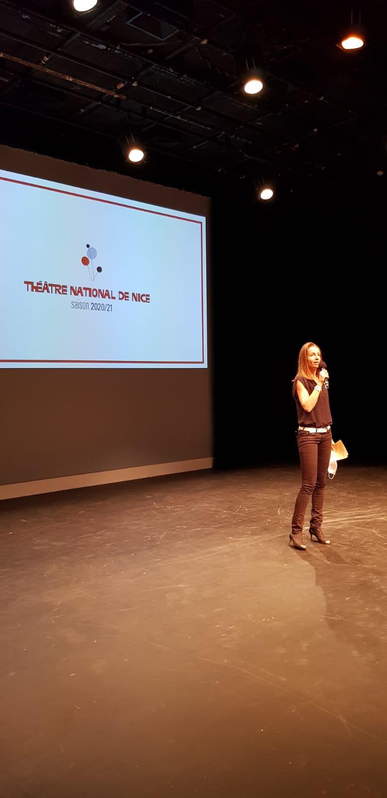 Amandine Mellira, soirée au théatre national de Nice le 10 septembre